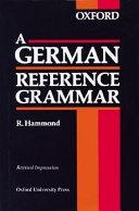 A German Reference Grammar