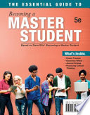 link to The essential guide to becoming a master student in the TCC library catalog