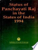 Status Of Panchayati Raj In The States Of India 1994