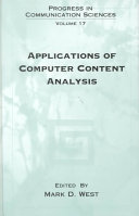 Applications Of Computer Content Analysis