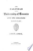 The Calendar of the University of Toronto ...