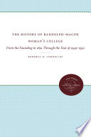 The History of Randolph-Macon Woman's College Pdf/ePub eBook
