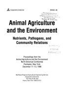 Animal Agriculture And The Environment Book PDF