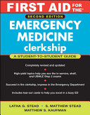 First Aid For The Emergency Medicine Clerkship Book PDF