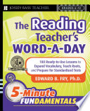 The Reading Teacher s Word a Day