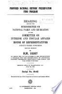 Proposed National Historic Preservation Fund Program Book PDF