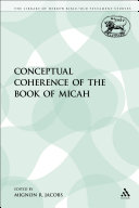 Pdf The Conceptual Coherence of the Book of Micah