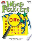 Word Puzzlers Grades 7 8 Enhanced Ebook