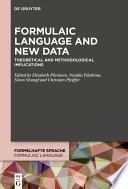 Formulaic Language and New Data