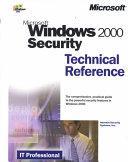Microsoft Windows 2000 Security Technical Reference