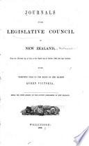 Journals of the Legislative Council of New Zealand