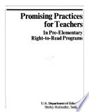 Promising Practices For Teachers In Pre Elementary Right To Read Programs Manual Iii