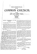 Proceedings Of The Common Council Of The City Of St Paul