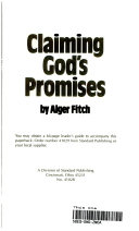 Claiming God s Promises Book