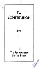 The Constitution of the Pan American Student Forum
