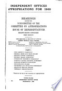 Independent Offices Appropriations For 1960