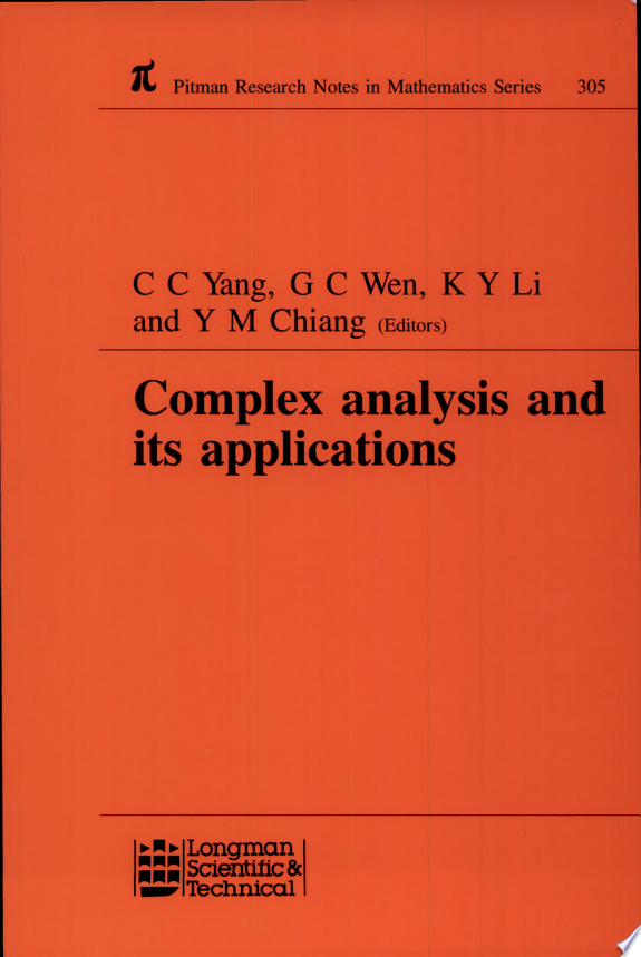 Complex Analysis and Its Applications