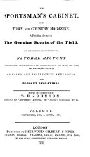 The Sportsman's Cabinet, and Town and Country Magazine