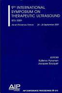 9th International Symposium on Therapeutic Ultrasound Book