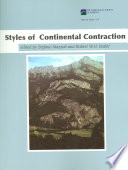 Styles of Continental Contraction Book
