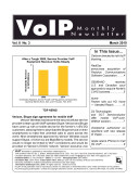 VoIP Monthly Newsletter March 2010