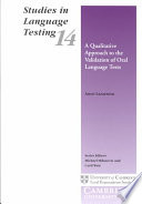 A Qualitative Approach To The Validation Of Oral Language Tests