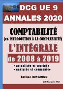 ANNALES 2020 du DCG 9 actualisées et corrigées - Comptabilité (ex-Introduction à la comptabilité)