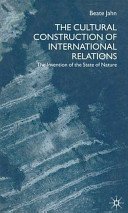 The Cultural Construction of International Relations Book
