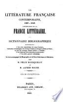La littérature française contemporaine. XIXe siècle