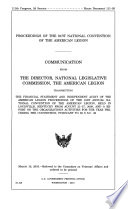 Proceedings of ... National Convention of the American Legion