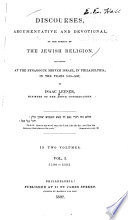 Discourses, Argumentative and Devotional, on the Subject of the Jewish Religion