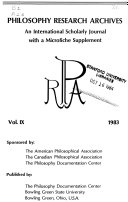 Philosophy Research Archives