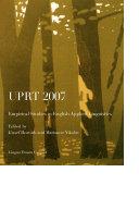 UPRT 2007  Empirical Studies in English Applied Linguistics