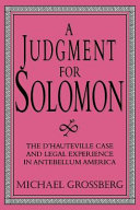 A Judgment for Solomon