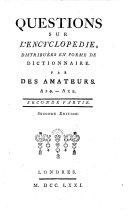Quéstions Sur L'Encyclopédie
