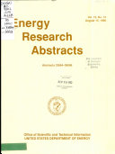 Energy Research Abstracts