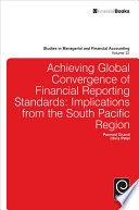 Achieving Global Convergence of Financial Reporting Standards