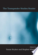 The Transgender Studies Reader Book