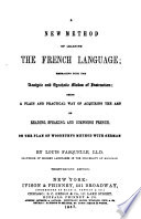 New Method of Learning the French Language     Book