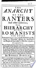 The Anarchy of the Ranters  Etc