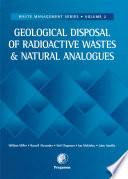 Geological Disposal of Radioactive Wastes and Natural Analogues
