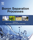 Boron Separation Processes