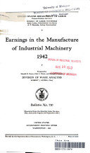 earnings in the manufacture of industrial machinery 1942