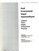 Draft Environmental Impact Statement report