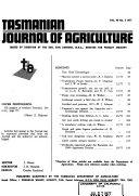 Journal of Agriculture  Tasmania