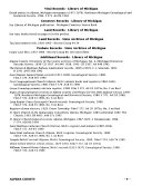 Guide To The Michigan Genealogical Historical Collections At The Library Of Michigan And The State Archives Of Michigan