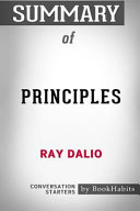 Summary Of Principles By Ray Dalio Conversation Starters Book PDF