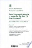 Land Transport Security Scope For Further Eu Involvement  Book PDF