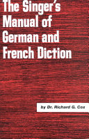 The Singer's Manual of German and French Diction