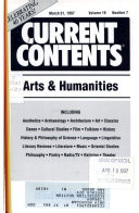 Current Contents.  Arts & Humanities